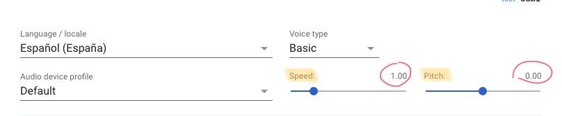Speed y pitch dos parámetros a personalizar para que la voz de un asistente virtual suene más humana