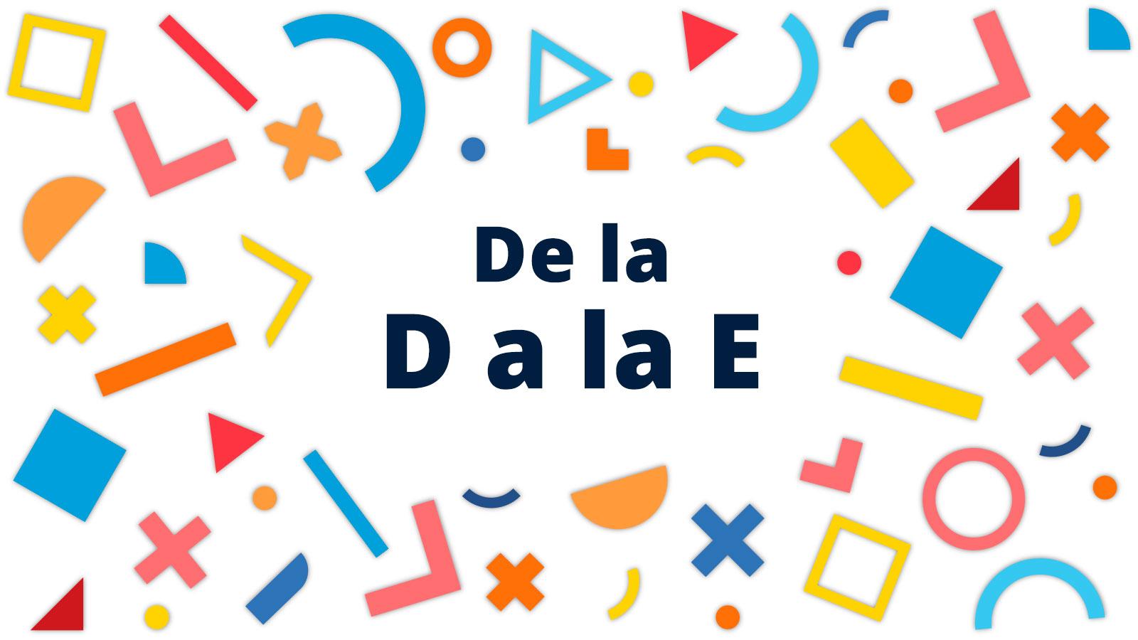 diccionario de dialogflow: conceptos de la D a la E