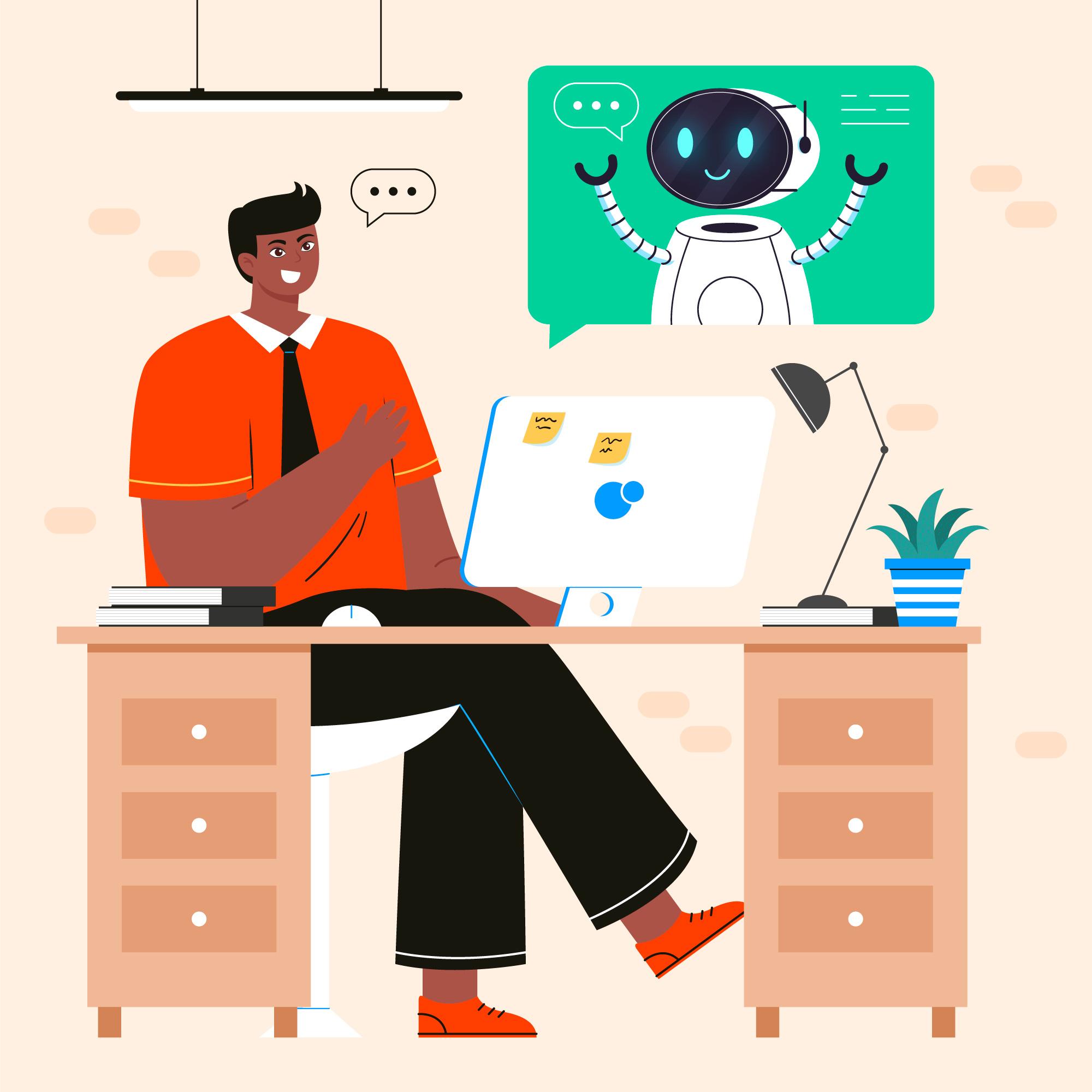 Asistente virtual como un robot