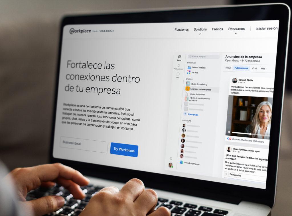 integración de Facebook Workplace en Dialogflow
