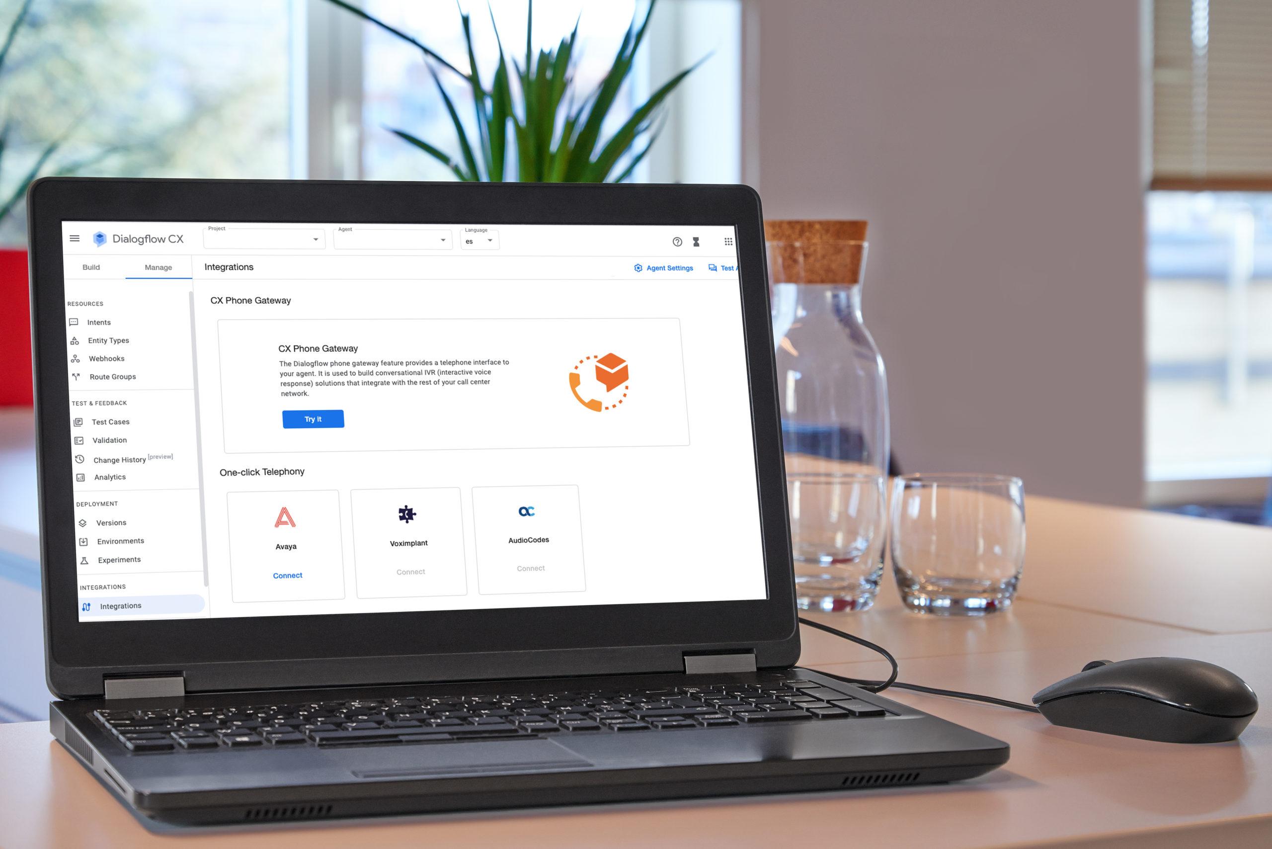 integración phone Gateway en Dialogflow CX